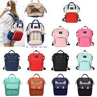 Waterproof Diaper Bag Large Capacity Mummy Maternity Nappy Baby Nursing Backpack