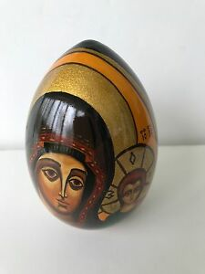 Palekh Russian Lacquer Egg Hand Painted