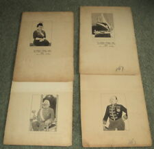 FDR'S NEW DEAL - 4 ORIG. SIGNED CARICATURE DRAWINGS by WYNCIE KING, 1935