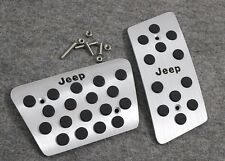 AT Aluminum Foot Pedal Plate Break Gas Cover For jeep wrangler 2007-2016