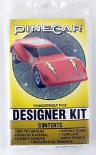 "BSA Pinewood Derby ""Thunderbolt"" Designer Kit - PineCar #P416"