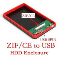 "ZIF/CE to USB 1.8""in 40Pin HDD External Hard Drive SSD Convertor Enclosure Case"