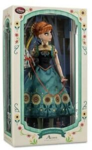 """Disney Limited Edition Deluxe 17"""" Frozen Fever Anna Doll NIB"""