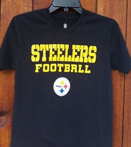 Pittsburgh Steelers Black T-shirt Youth Size M 10-12