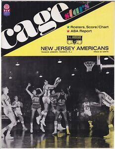 1967/68 NJ AMERICANS ABA HOME PROGRAM VS NEW ORLEANS BUCCANEERS HAWKINS & HEYMAN