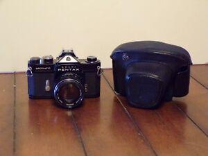 Asahi Pentax Spotmatic SP with Asahi Super-Takumar 50mm 1.4 Lens and Field Case