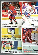 1996-97 Maggers Canadiens Proof Set, Koivu Error, Brunet, Turgeon, Thibault..(6)