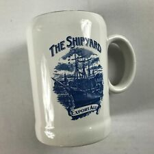 The Shipyard Beer Stein Vtg Mug Cup Export Ale Drink Double Sided Collectible