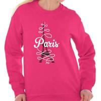 Paris Eiffel Tower French Fashion Travel Gift Sweat Shirt Sweatshirt For Womens