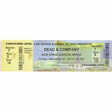 DEAD & COMPANY Concert Ticket Stub LAS VEGAS 11/27/15 MGM GRAND GARDEN GRATEFUL