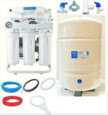 Ro Reverse Osmosis Water Filtration System 400 Gpd 10 G Tank Booster Pump Lc
