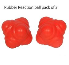 Rubber Reaction Ball Pack of 2 for Cricket Catching Practice Orange