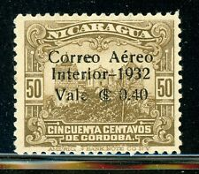 NICARAGUA MH Selections: MAXWELL #A68 40c/50c Bister Brown Cathedral $$$