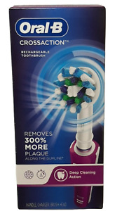 Oral-B CrossAction Rechargeable Electric Toothbrush - Purple