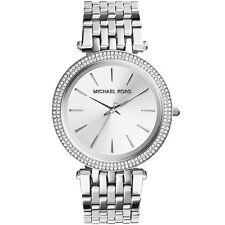 Michael Kors MK3190, Sleek Design, Full Silver Studded Bezel Watch for Women