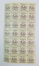FULLER BRUSH COMPANY Stamps Full Sheet EXPECT BRUSHES Rare 1940's
