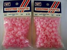 Lot of 1 Packages Vintage Craft Beads Plastic  SEALED Made in the USA