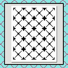 9 X 11 MOROCCAN Seamless Trellis Pattern STENCIL Paint/Airbrush/Crafts/Stamping