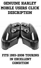 OEM Harley Davidson Hard Road King Black Leather Saddle Bags Saddlebags FLHR