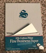 Southworth Fine Business Paper White 100 Sheets 20lb 25% Cotton Fiber