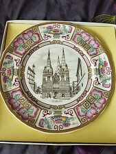 VINTAGE MASONS IRONSTONE CHRISTMAS LITCHFIELD CATHEDRAL PLATE 1981