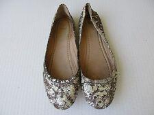 Frye Carson ballet Cracked Leather Flats Shoes Sz 9.5M