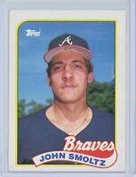 1989 Topps #382 JOHN SMOLTZ Rookie RC (Braves) HOF