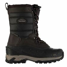 Karrimor Mens UK 10 EU 44 Bering Brown Snow Boots Lace Up Waterproof Thinsulate