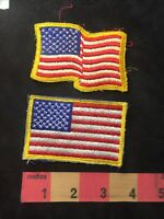 USA PATCH Patriotic Flag Patch Lot Of 2 — One Is Regular & One Is Wavy Flag 87M7