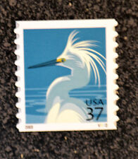 2003USA #3829  37c  Snowy Egret - PNC Coil Plate Number Single Mint NH #V3222