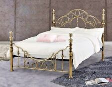 LAVISH FLORENCE BRASS FINISH BED FRAME BEDSTEAD IN KING SIZE 5'FT*FREE DELIVERY*