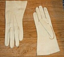"GLOVES  10"" LONG Woman's TAN Dress Gloves Size 6-1/2 TABLE CUT DEER SKIN"