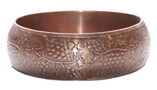 Enigmatic & Timeless- Copper Brown & Flower Pattern Engraved Hand Bangle(Zx121)