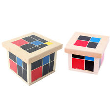 Wooden Binomial Trinomial Cube Kids Learning Aid Maths Algebra Education Toy