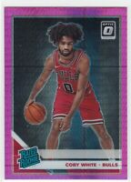 2019-20 Donruss Optic Hyper Pink Prizm #180 Coby White RC Rookie Chicago Bulls