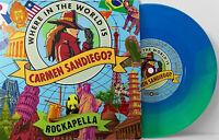 "Rockapella - Where In The World Is Carmen Sandiego Blue Green Swirl 7"" Vinyl LP"