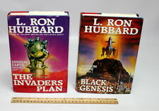 L Ron Hubbard The Invader's Plan 1985 & Black Genesis 1986, 1st edition HB books