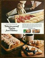 1970 Bake-Em-Yourself Pastries PRINT AD In the Dairy Case Turnovers Coffee Cake
