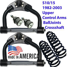 "L 1982-93 CHEVY S10 DROP upper arms Pair,Balljoints,XShaft,250110 1""COILS"