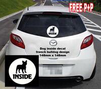 french bulldog Sticker Dog Inside design Car van Vinyl Decal white dog breed