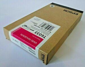 original Genuine Epson T6033 Vivid Magenta Ink Cartridge - 7800 9800 7880 9880