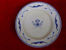 """Assiette porcelaine.Tournai. """"Archers de Gand"""". XIXème. Antique plate Doornik..B"""