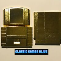 Legend of Zelda Game Case Cartridge - Gold Platinum (Metal Plating) NES SNES N64