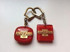 2 Porte Clefs ANTAR-garage-voiture-essence-huile-bourbon-keychain-C