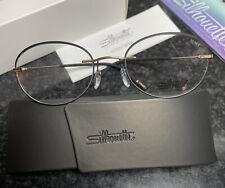 SILHOUETTE TMA ICON ACCENT RINGS 5518/FZ 7530 Gold/Black Frames Eyeglasses 50mm