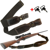 Padded Cotton Rifle Gun Sling Straps Adjustable up to 47 inches with QD Swivel
