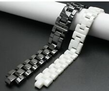16mm or 19mm Ceramic Watch Strap Band for Chanel J12 White or Black Bracelet NEW