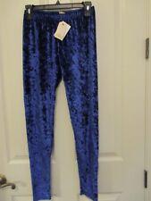 NWT - PINK REPUBLIC girl's blue crushed velvet lounge pants/leggings - sz M