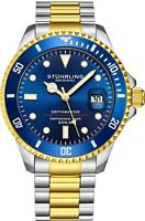 Stuhrling Men's Swiss Automatic 883 DEPTHMASTER Professional Dive Watch