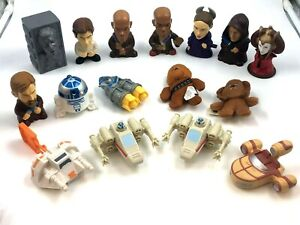 Burger King 2005 Star Wars Episode III Lot of 15+ Toys Solo Mace Anakin Padme